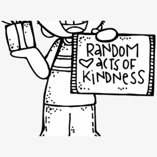 Free black and white. Kindness clipart kind action