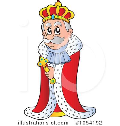 King clipart. Illustration by visekart royaltyfree