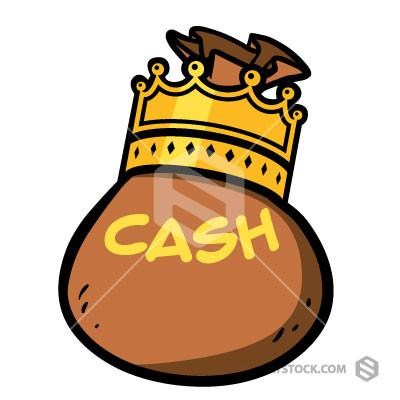 King clipart. Cash is staystock