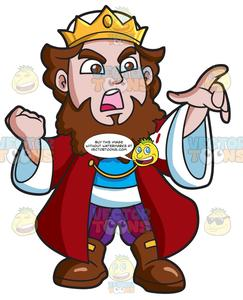 An . King clipart angry