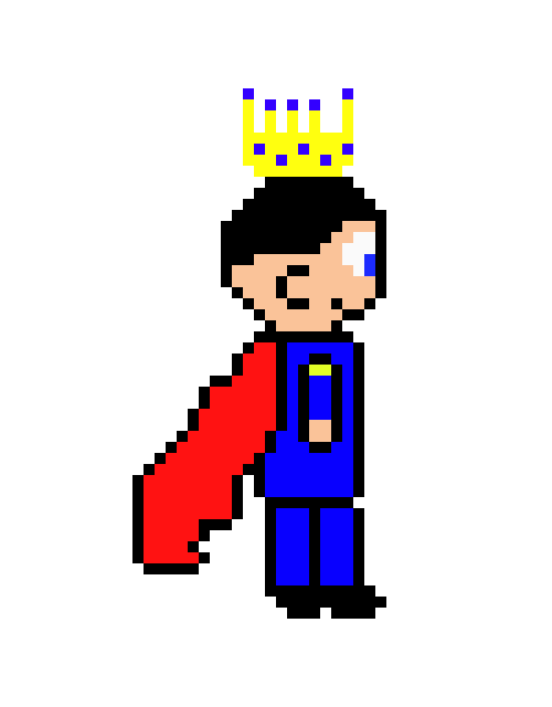 Pixel art maker. King clipart bad king