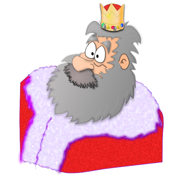 In red robe clip. King clipart cape