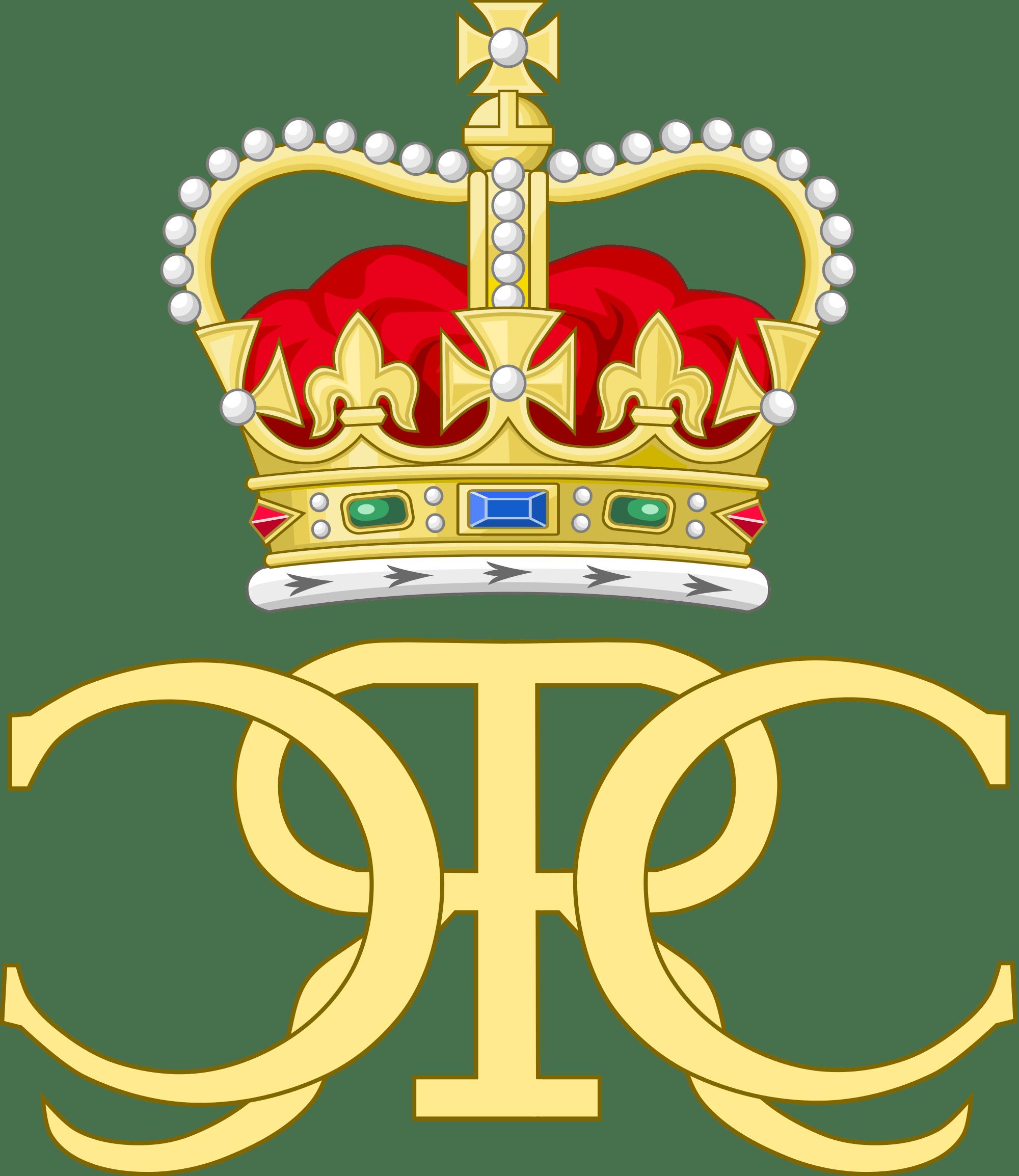 Charles ii monogram transparent. King clipart england king