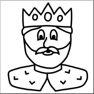 Clip art cartoon faces. King clipart face king