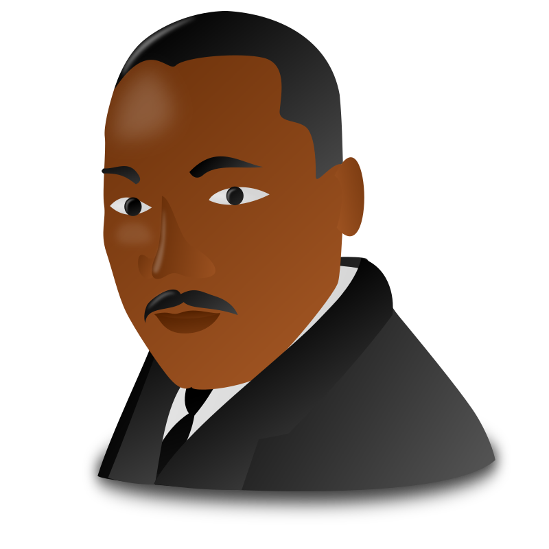 King clipart face king. Martin luther jr day