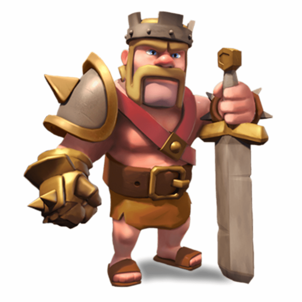 Clash of clans barbarian. King clipart face king