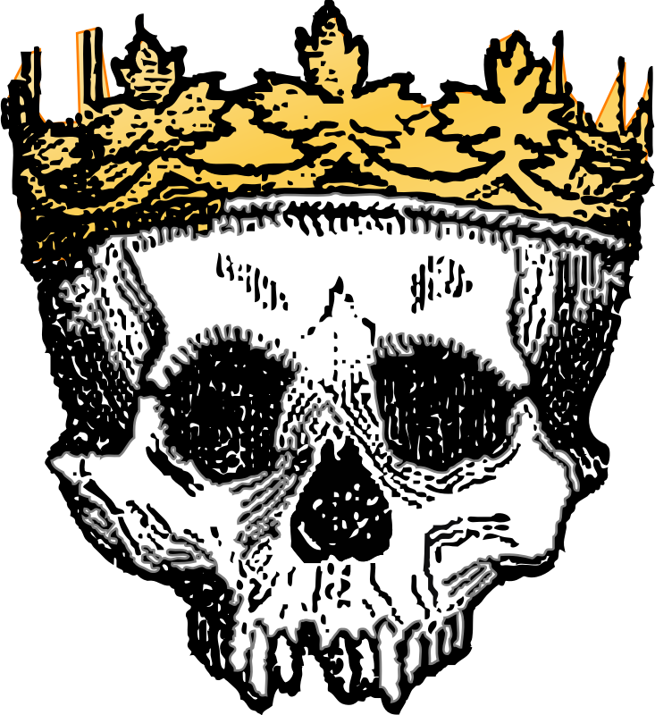 Of the dead colored. King clipart head king