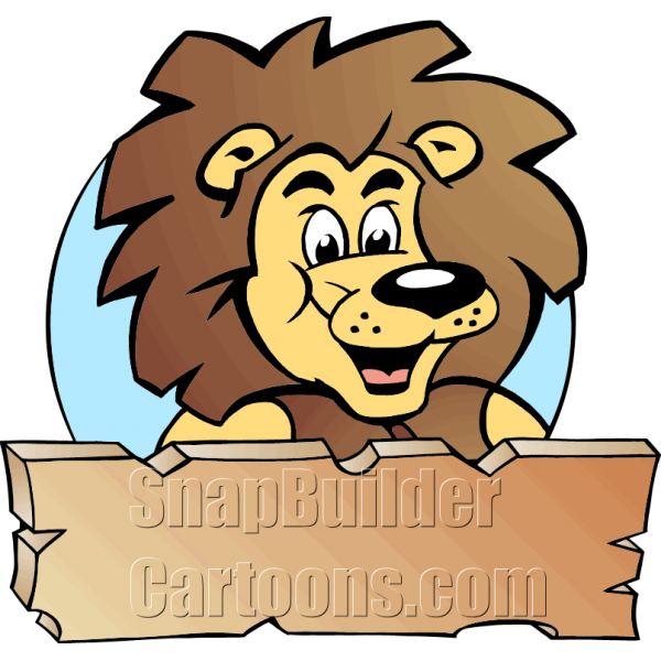 King clipart head king. Lion with wood plank