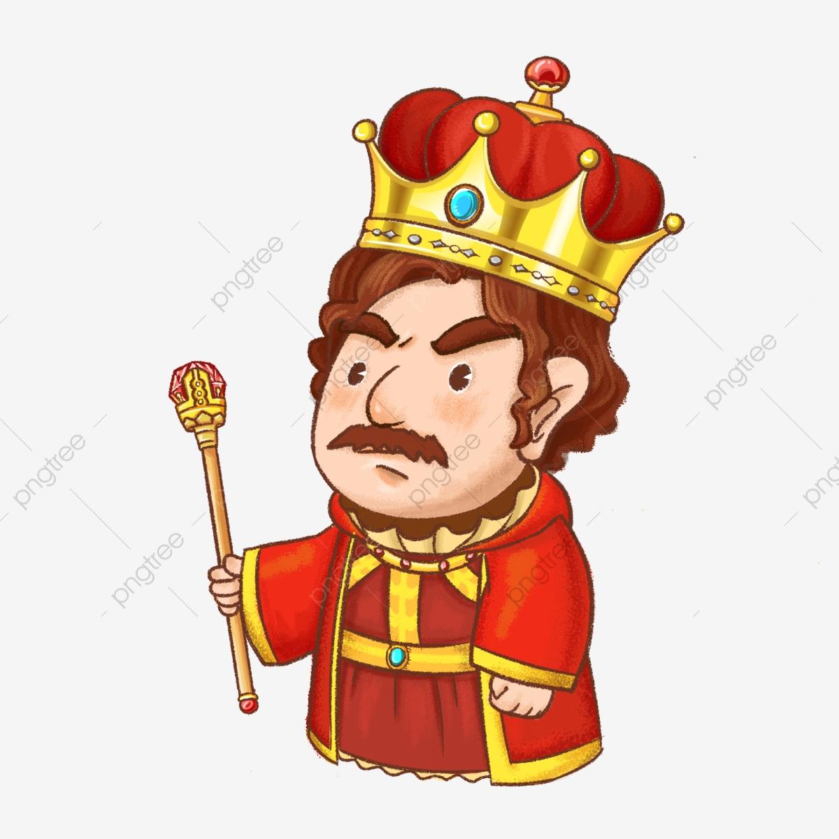 Western cartoon a scepter. King clipart holding