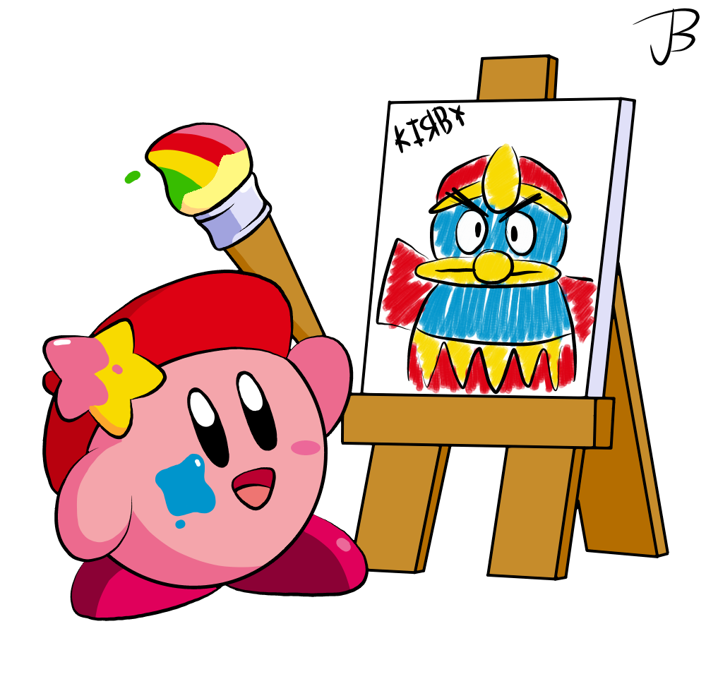 King clipart homage. Not paint kirby by
