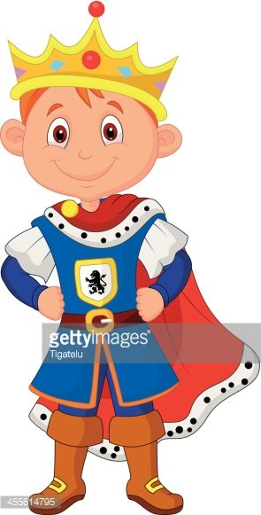 Cartoon with costume image. King clipart kid