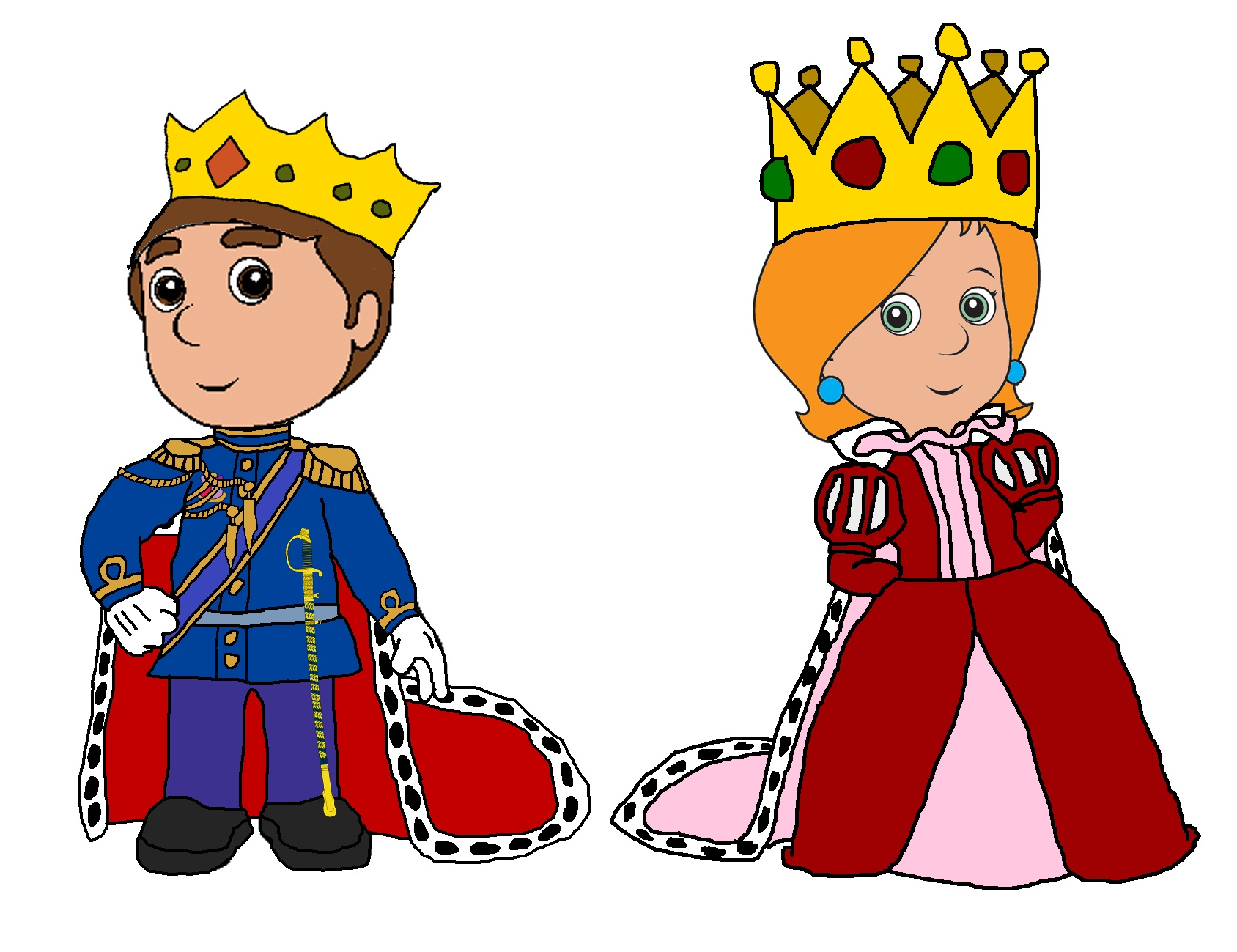 Queen clipart king queen. Free image id clip