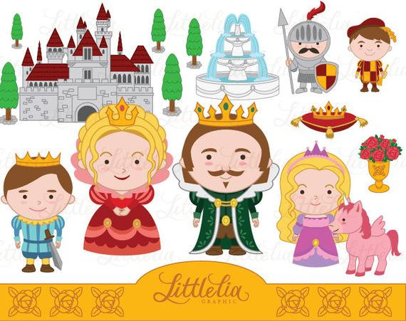 Queen and prince instant. King clipart king princess