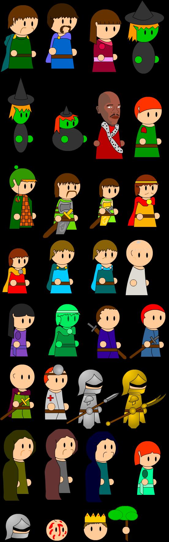 King clipart macbeth. Character models by mitsimaru