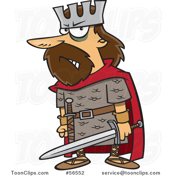 King clipart macbeth. Cartoon angry holding a
