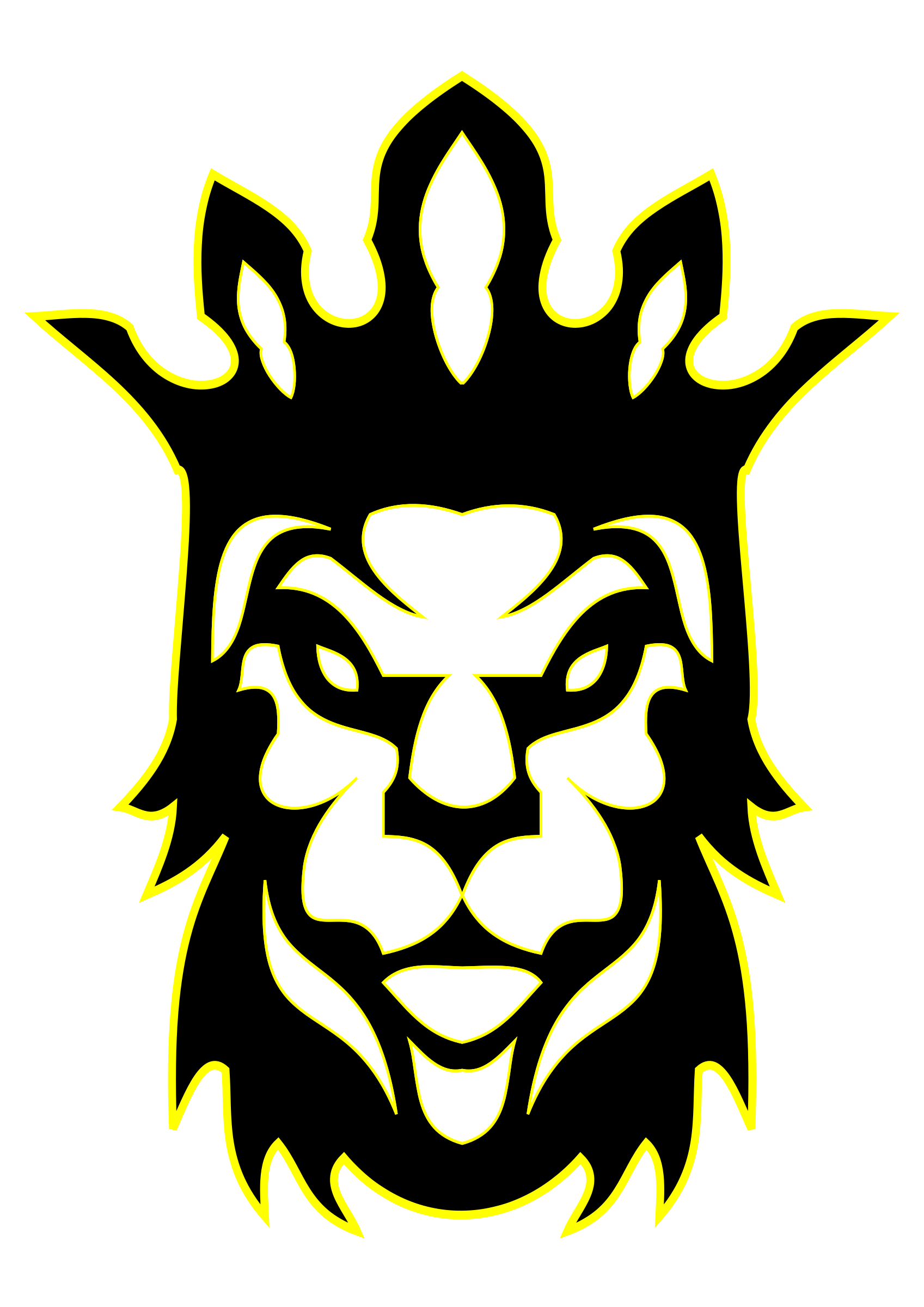 The lion as a. King clipart proud