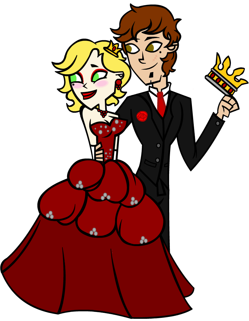Prom and of hearts. Queen clipart happy king