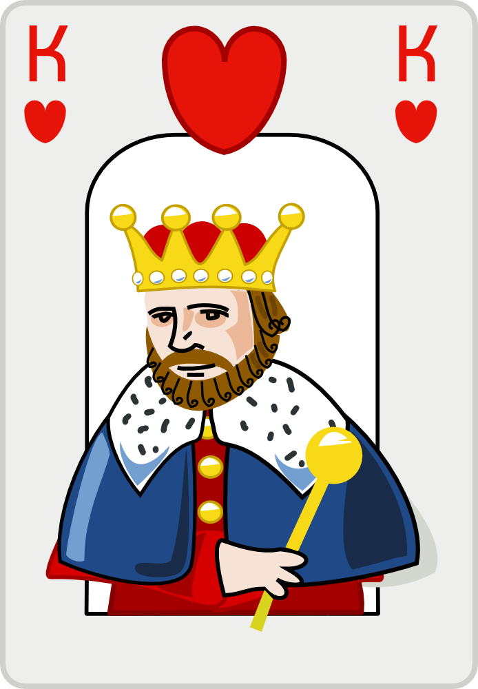 King clipart queen king heart. Of hearts card illustration