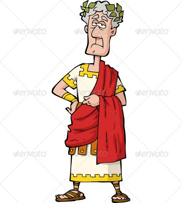 King clipart roman king. The emperor augustus adult