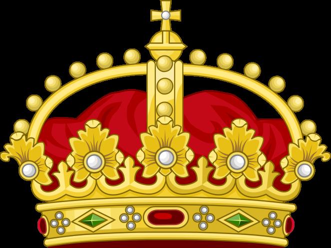 File heraldic royal crown. King clipart roman king
