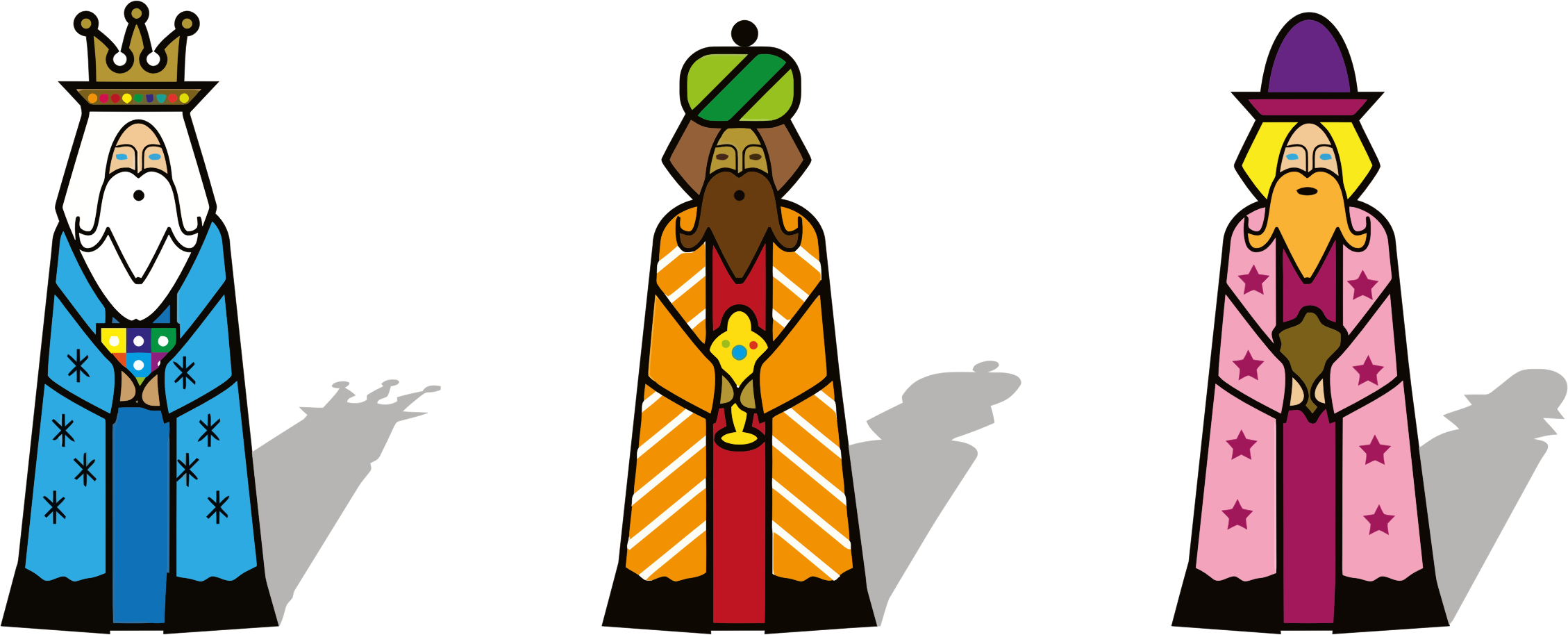 collection of three. King clipart wise man