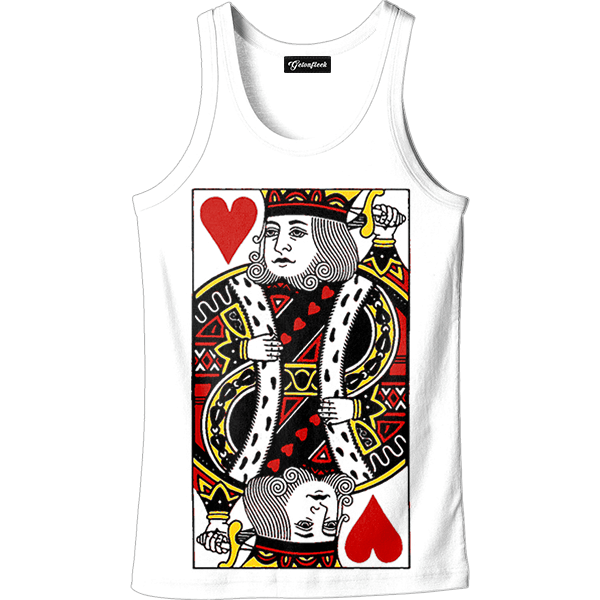 King of hearts png. Tank all over print
