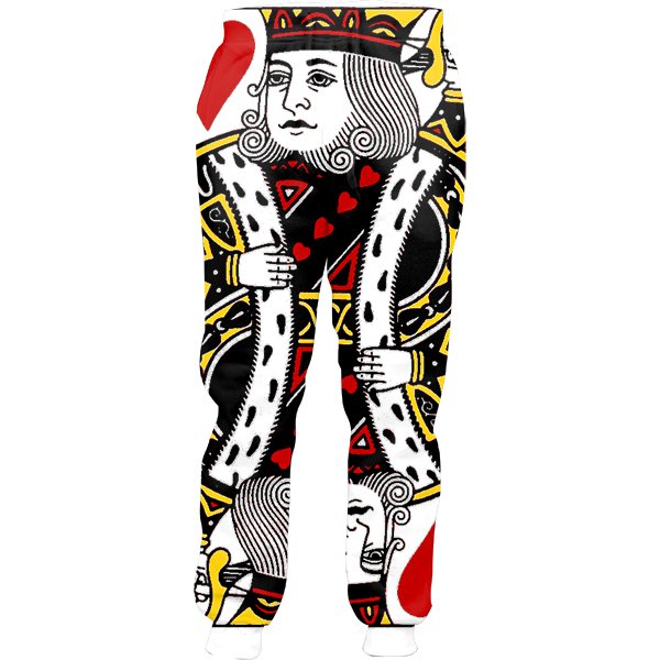 Tracksuit all over print. King of hearts png
