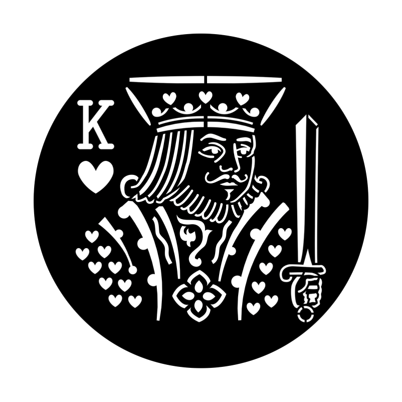 Poker face apollo design. King of hearts png