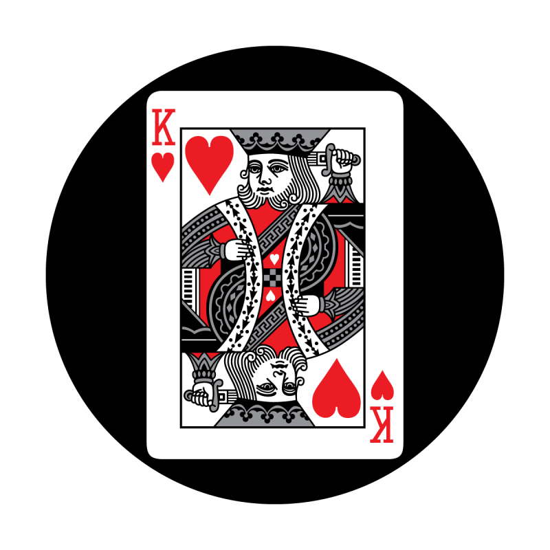 Red card apollo design. King of hearts png