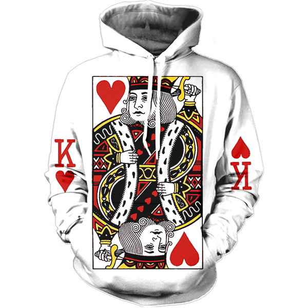 King of hearts png. Hoodie all over print