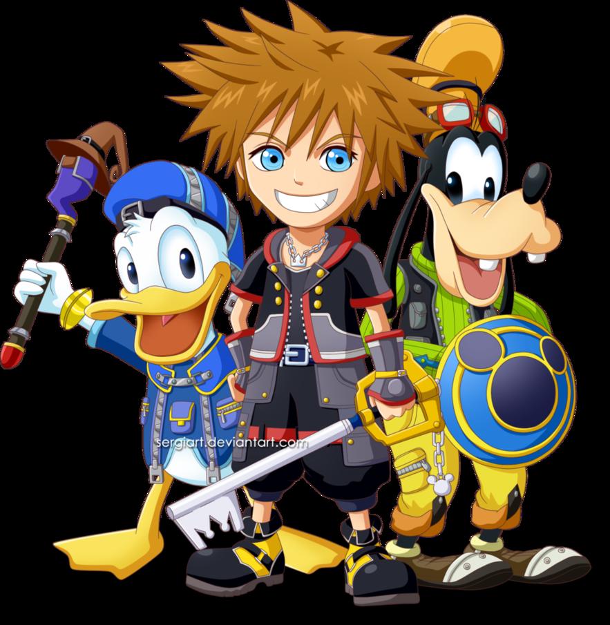 Kingdom hearts 3 png. Sora donald and goofy