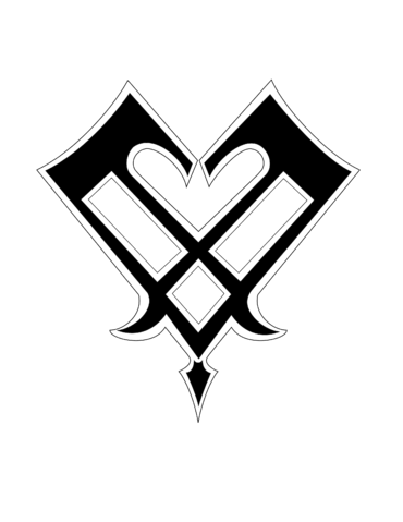 Image blank emblem wiki. Kingdom hearts heart png