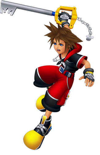 Image sora battle d. Kingdom hearts png