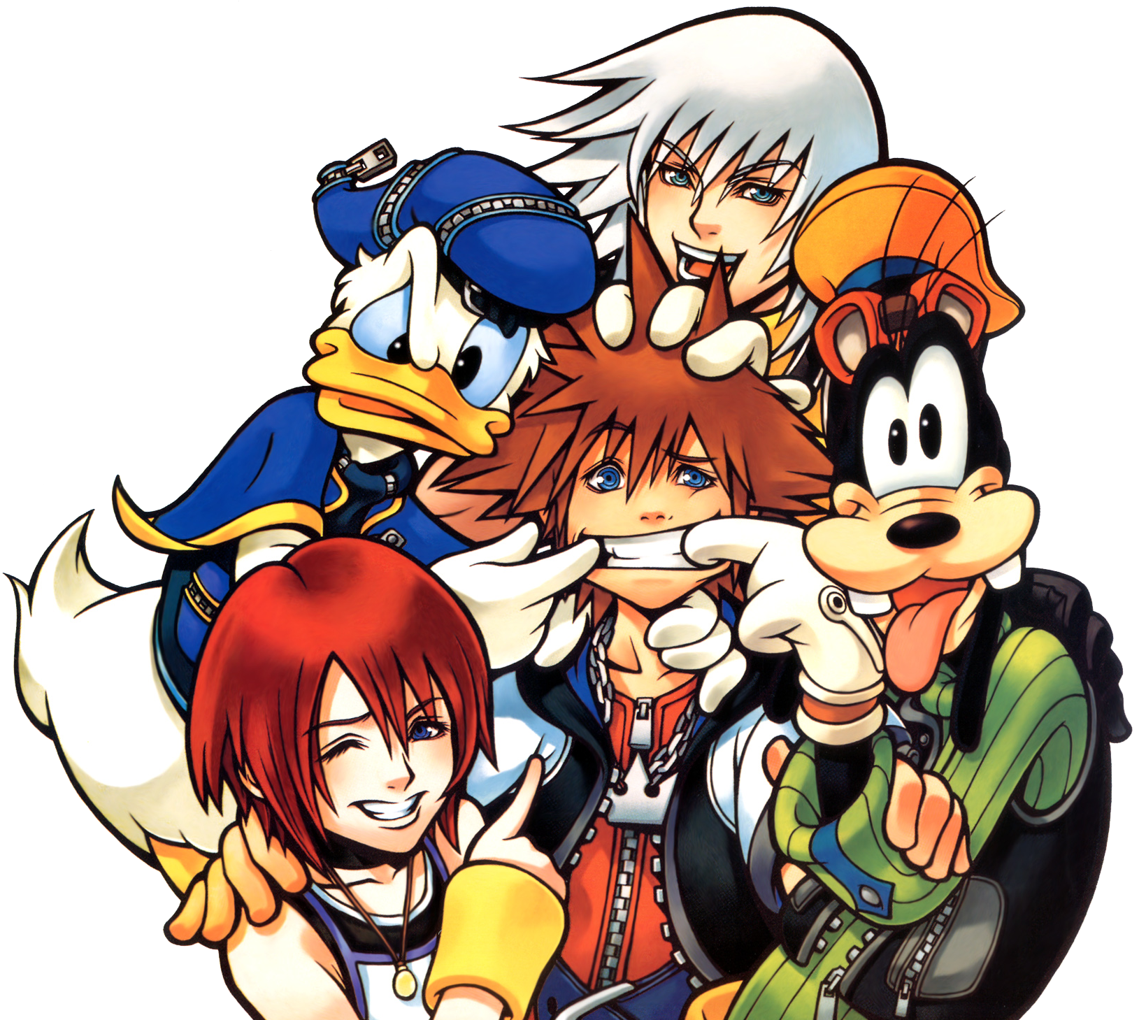 Image protagonist group art. Kingdom hearts png