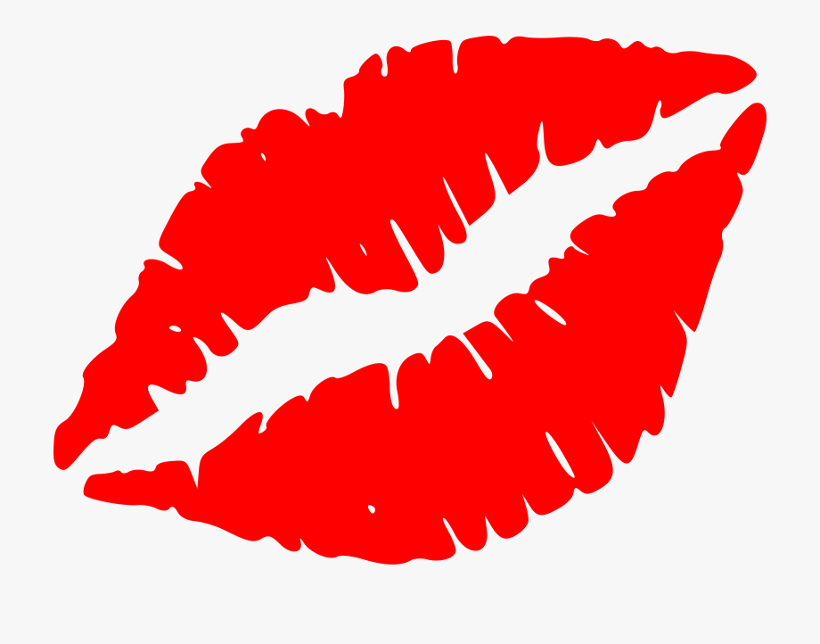 Kiss black and white. Lips clipart