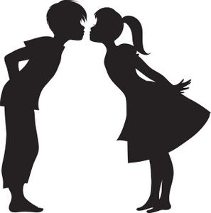 First image silhouette of. Kiss clipart