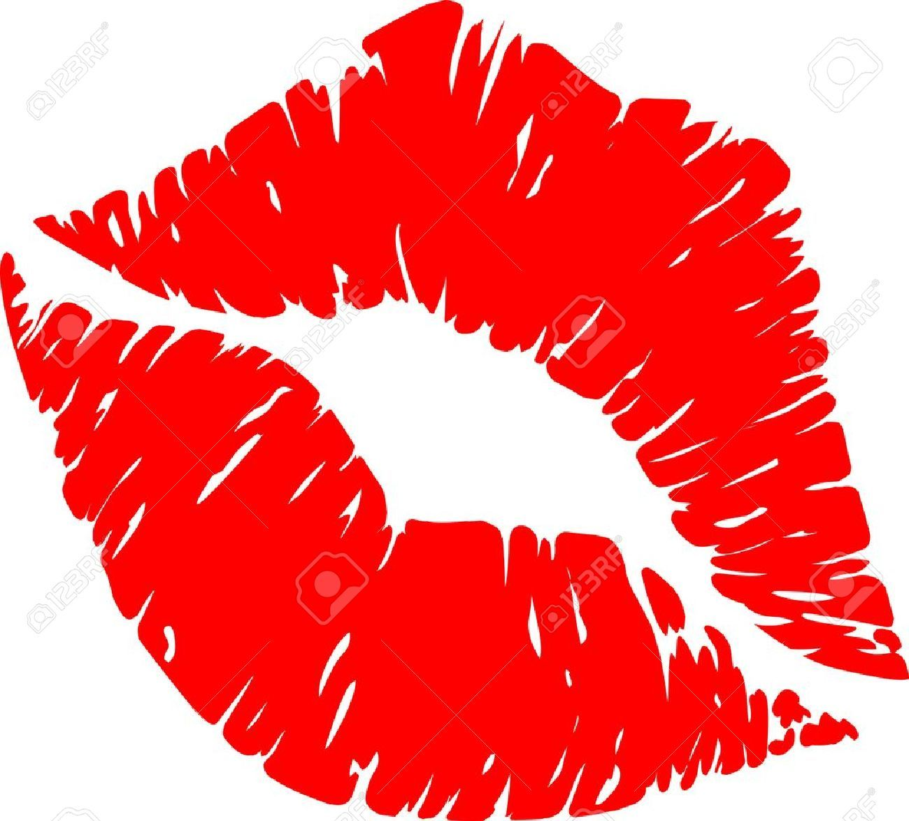 Red kiss clipartfest graphic. Lips clipart
