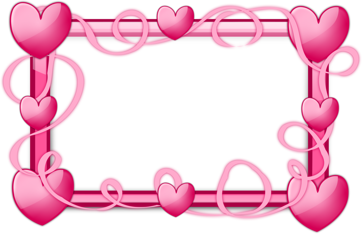 Heart border png. Picture frames right of