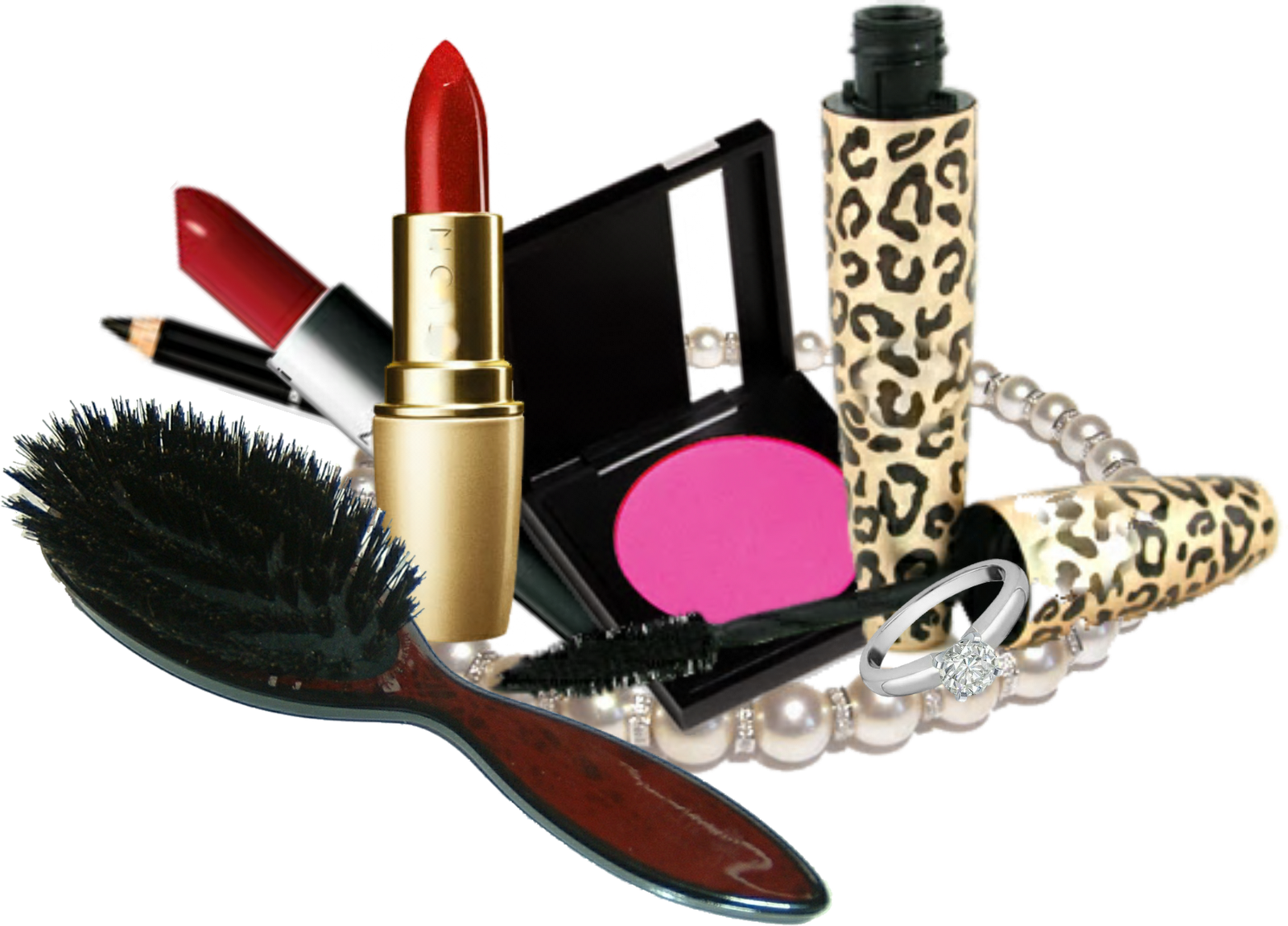 How to make png images. Makeup kit products clipart