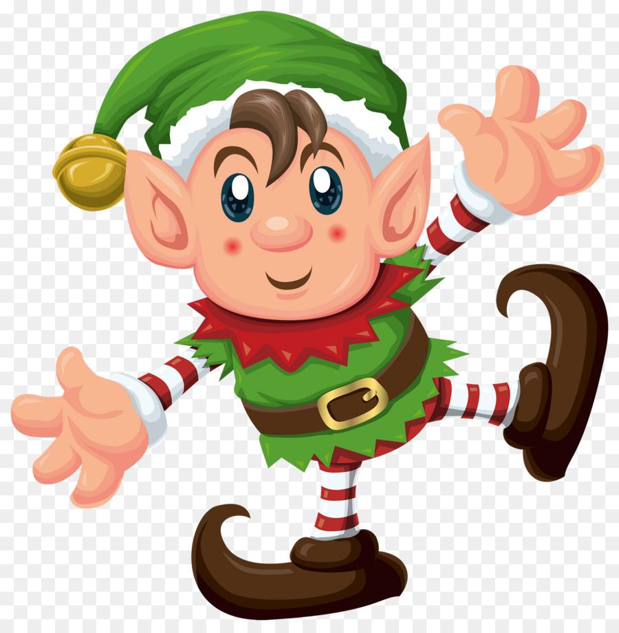 Christmas cartoon hand food. Kiss clipart elf