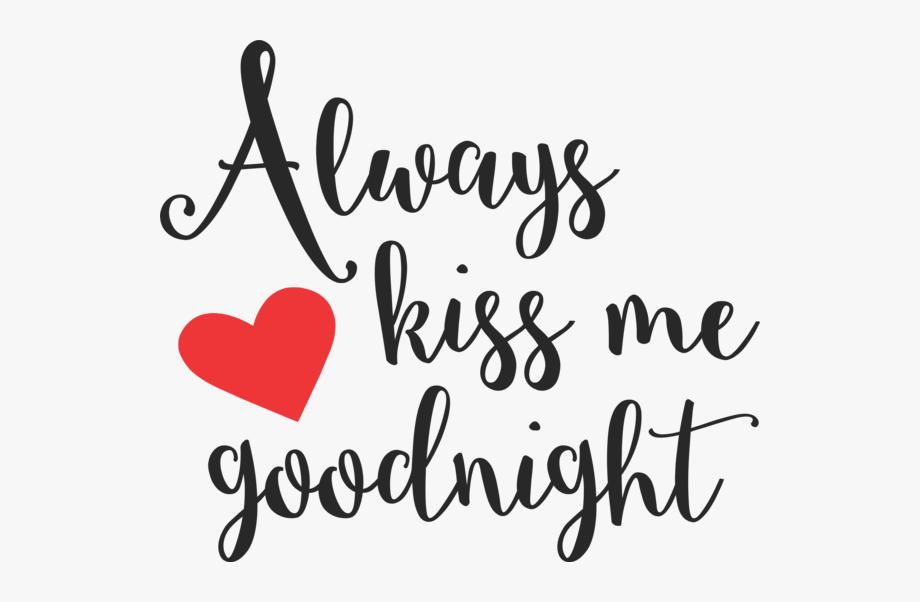 Kiss clipart good night kiss. Always me goodnight