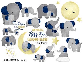 Cute elephant watercolor me. Kiss clipart good night kiss