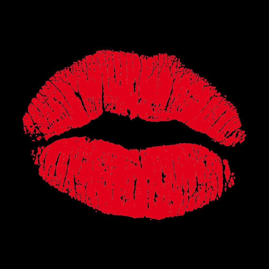 Kiss heart shaped lip