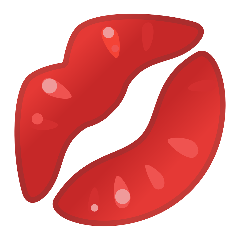 Kiss clipart icon. Mark noto emoji people