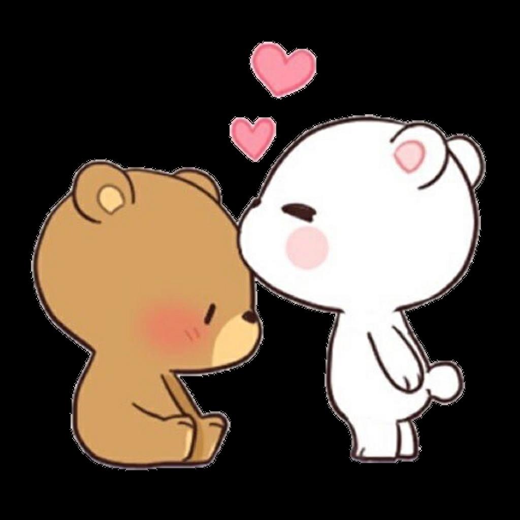 Kiss clipart kiss on cheek. Bears cute osos love