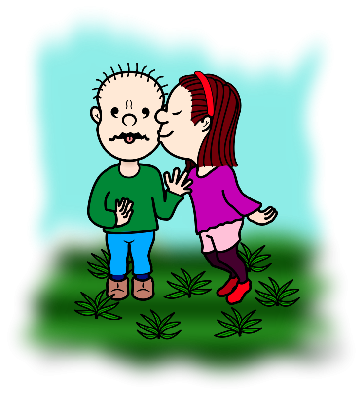 Kiss clipart kiss on cheek. Free clip art smack