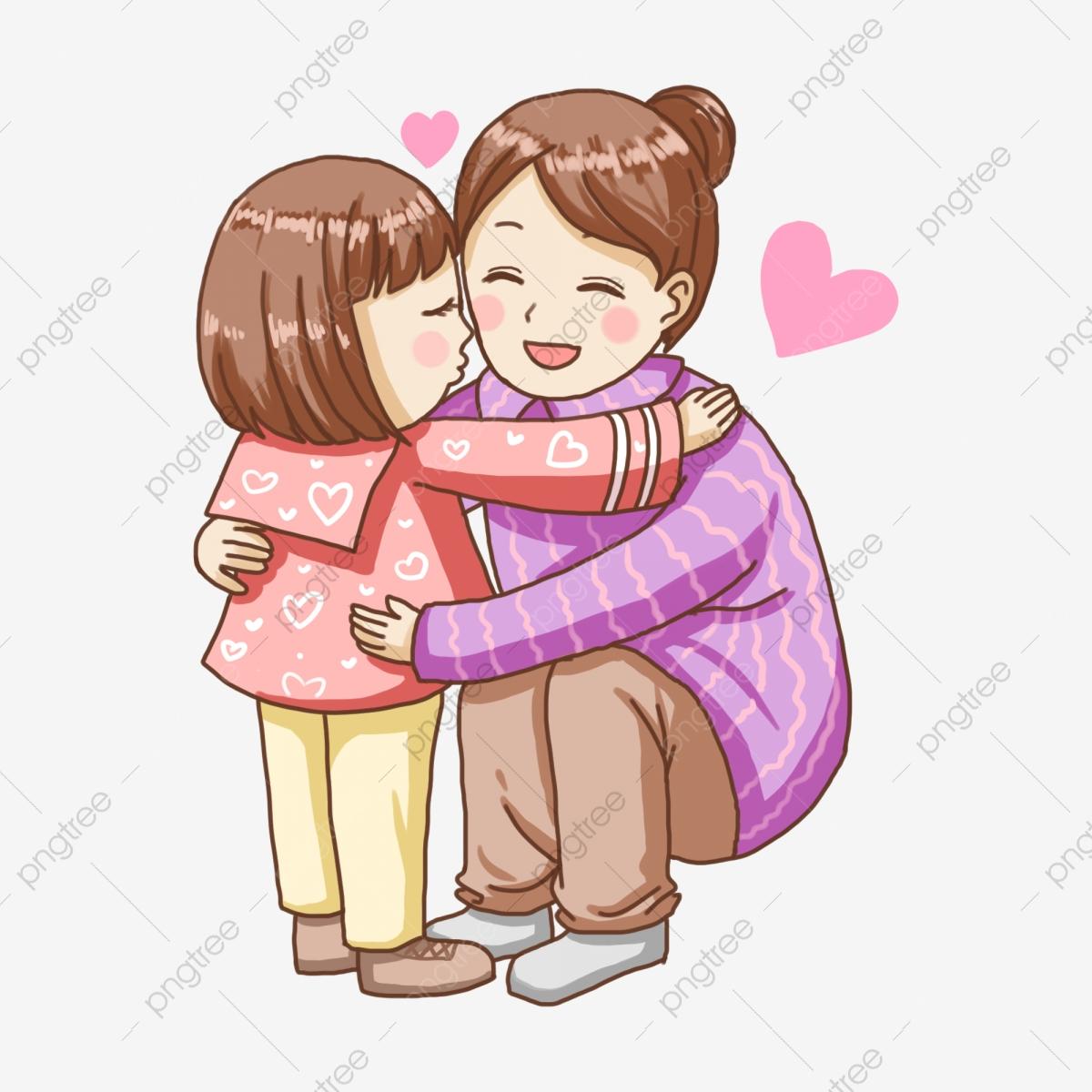 Kiss clipart kiss on cheek. Cartoon hand painted embrace