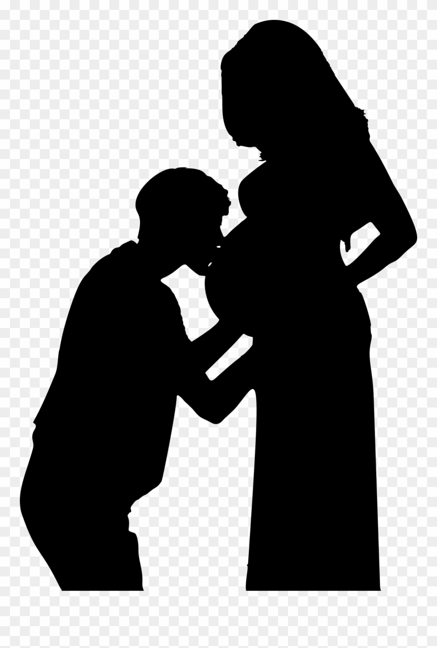 Pregnancy kiss woman pregnant. Lady clipart wife