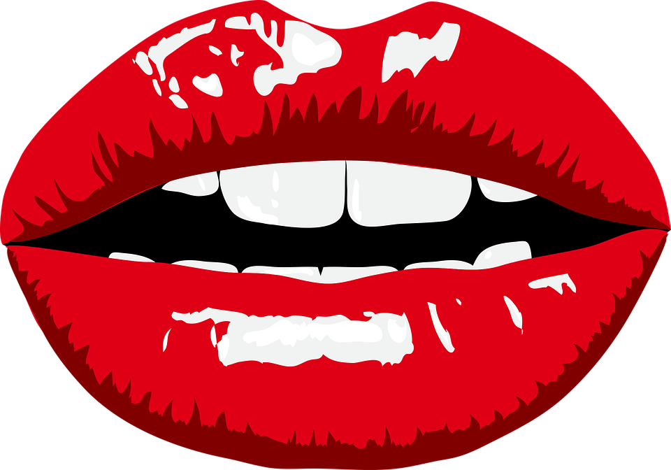 Mouth clipart mustache. Kissing lips shop of