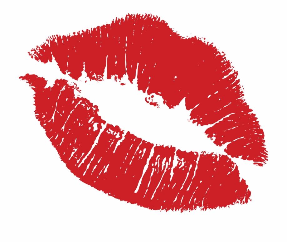 Transparent kiss . Lips clipart lipstick stain